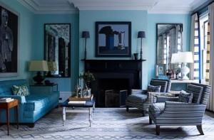 Интериор в сини цветове – тънкости и тайни на декорация